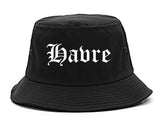 Havre Montana MT Old English Mens Bucket Hat Black