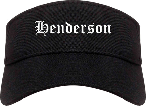 Henderson Nevada NV Old English Mens Visor Cap Hat Black