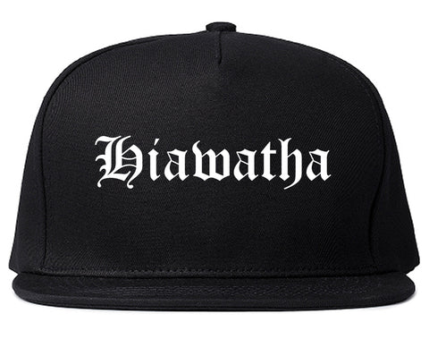 Hiawatha Iowa IA Old English Mens Snapback Hat Black