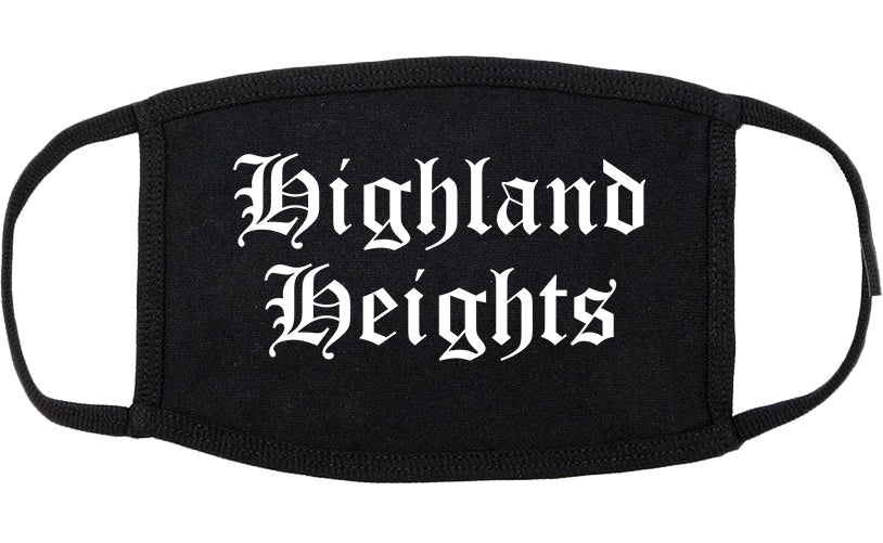 Highland Heights Kentucky KY Old English Cotton Face Mask Black