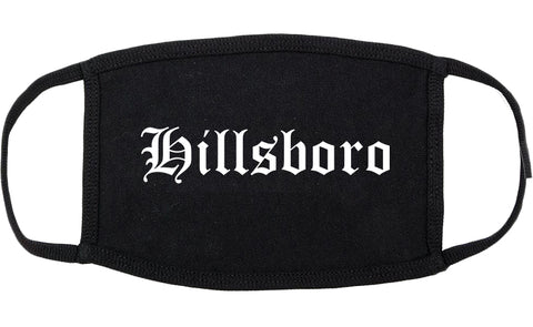 Hillsboro Ohio OH Old English Cotton Face Mask Black