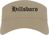 Hillsboro Ohio OH Old English Mens Visor Cap Hat Khaki