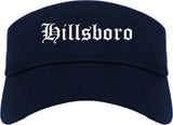 Hillsboro Ohio OH Old English Mens Visor Cap Hat Navy Blue