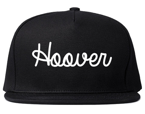 Hoover Alabama AL Script Mens Snapback Hat Black