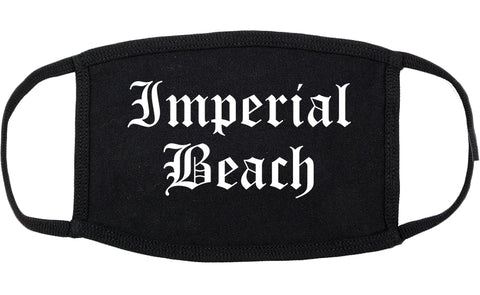 Imperial Beach California CA Old English Cotton Face Mask Black