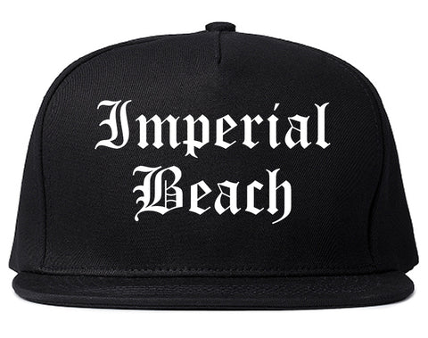 Imperial Beach California CA Old English Mens Snapback Hat Black