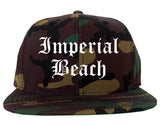 Imperial Beach California CA Old English Mens Snapback Hat Army Camo
