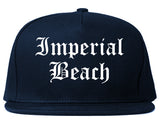 Imperial Beach California CA Old English Mens Snapback Hat Navy Blue