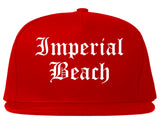 Imperial Beach California CA Old English Mens Snapback Hat Red
