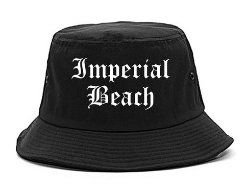 Imperial Beach California CA Old English Mens Bucket Hat Black