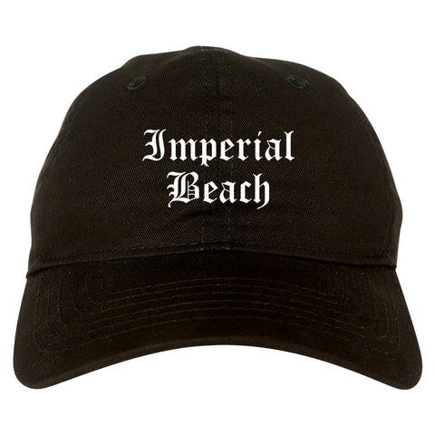 Imperial Beach California CA Old English Mens Dad Hat Baseball Cap Black