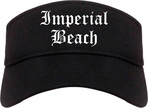 Imperial Beach California CA Old English Mens Visor Cap Hat Black