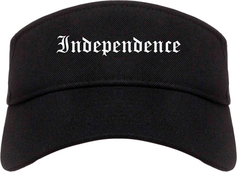 Independence Kentucky KY Old English Mens Visor Cap Hat Black