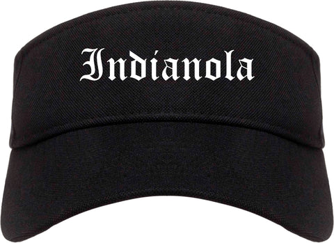 Indianola Iowa IA Old English Mens Visor Cap Hat Black