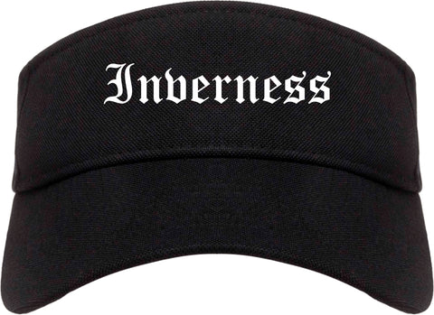 Inverness Illinois IL Old English Mens Visor Cap Hat Black