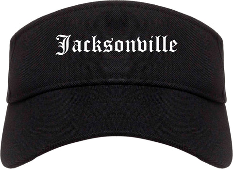 Jacksonville Illinois IL Old English Mens Visor Cap Hat Black