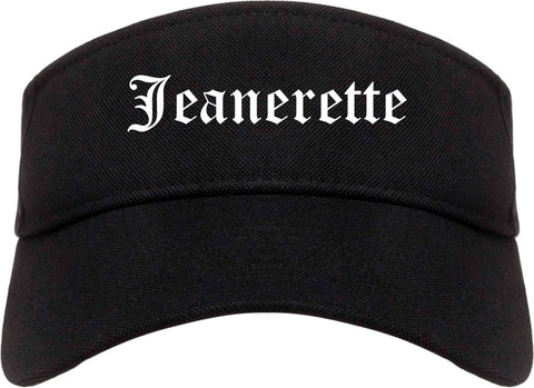 Jeanerette Louisiana LA Old English Mens Visor Cap Hat Black