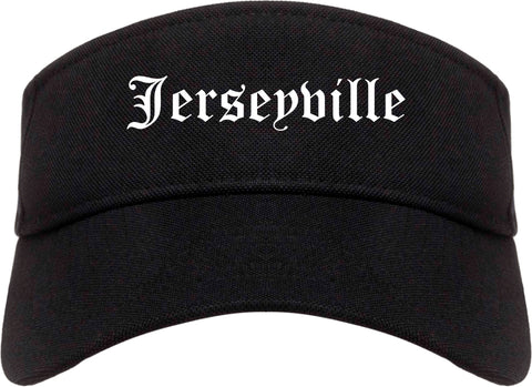 Jerseyville Illinois IL Old English Mens Visor Cap Hat Black