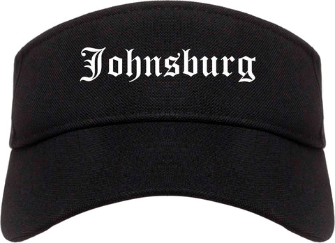 Johnsburg Illinois IL Old English Mens Visor Cap Hat Black
