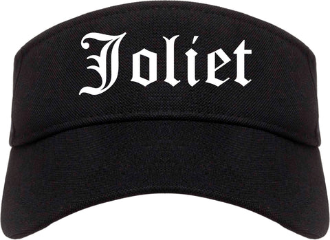Joliet Illinois IL Old English Mens Visor Cap Hat Black