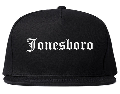 Jonesboro Arkansas AR Old English Mens Snapback Hat Black