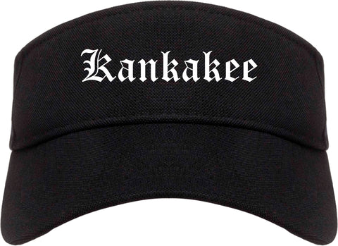 Kankakee Illinois IL Old English Mens Visor Cap Hat Black