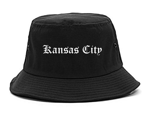 Kansas City Missouri MO Old English Mens Bucket Hat Black