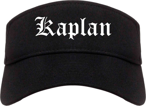 Kaplan Louisiana LA Old English Mens Visor Cap Hat Black