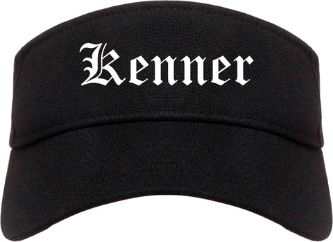 Kenner Louisiana LA Old English Mens Visor Cap Hat Black