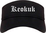 Keokuk Iowa IA Old English Mens Visor Cap Hat Black