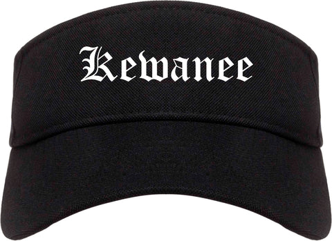 Kewanee Illinois IL Old English Mens Visor Cap Hat Black