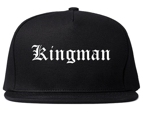 Kingman Arizona AZ Old English Mens Snapback Hat Black