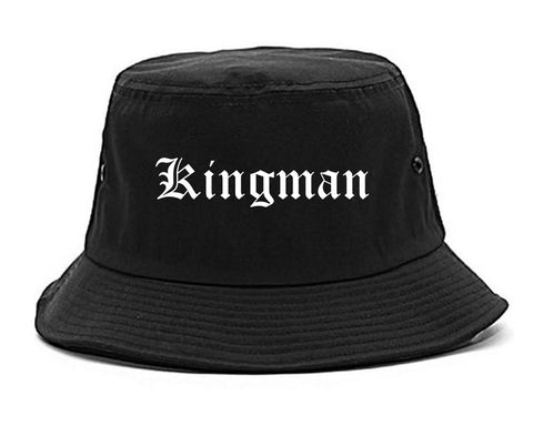 Kingman Arizona AZ Old English Mens Bucket Hat Black