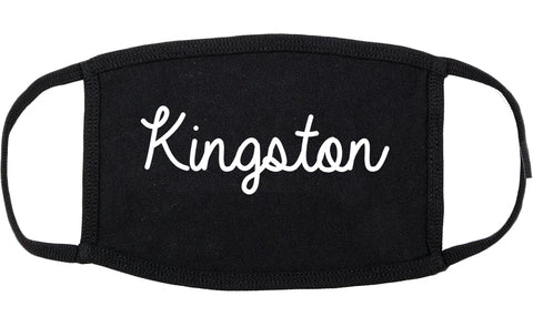 Kingston Tennessee TN Script Cotton Face Mask Black