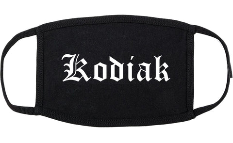 Kodiak Alaska AK Old English Cotton Face Mask Black
