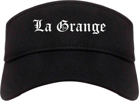 La Grange Illinois IL Old English Mens Visor Cap Hat Black