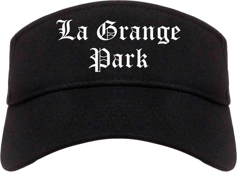 La Grange Park Illinois IL Old English Mens Visor Cap Hat Black