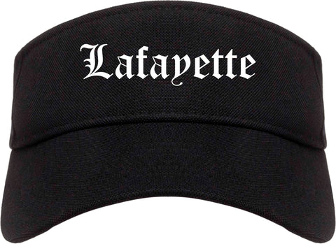 Lafayette Louisiana LA Old English Mens Visor Cap Hat Black