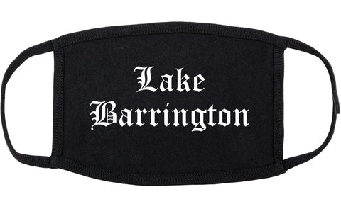 Lake Barrington Illinois IL Old English Cotton Face Mask Black
