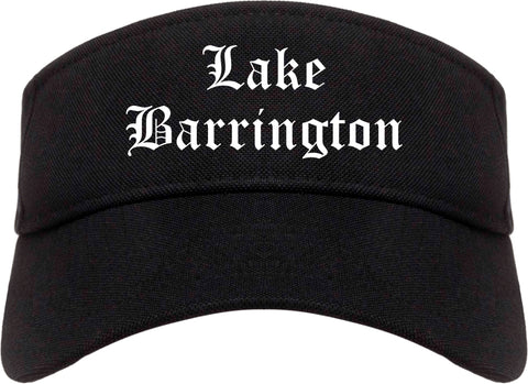 Lake Barrington Illinois IL Old English Mens Visor Cap Hat Black