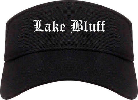 Lake Bluff Illinois IL Old English Mens Visor Cap Hat Black