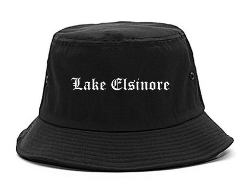Lake Elsinore California CA Old English Mens Bucket Hat Black