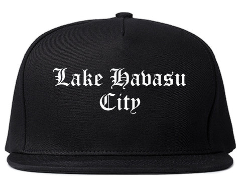 Lake Havasu City Arizona AZ Old English Mens Snapback Hat Black