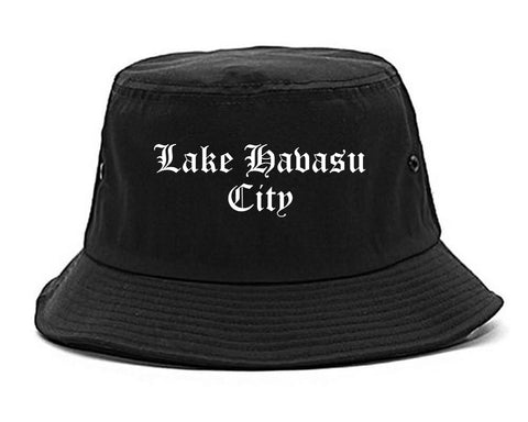 Lake Havasu City Arizona AZ Old English Mens Bucket Hat Black