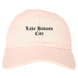 Lake Havasu City Arizona AZ Old English Mens Dad Hat Baseball Cap Pink