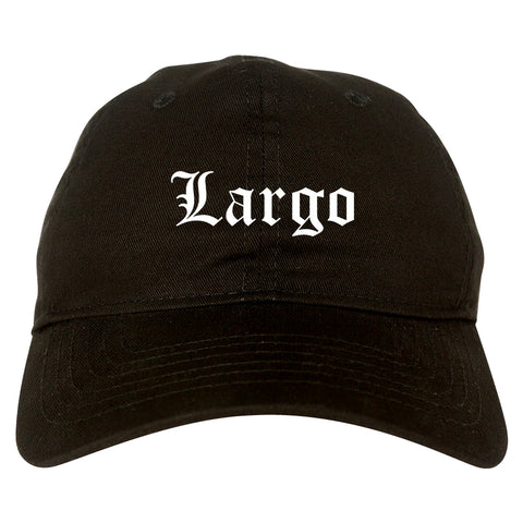 Largo Florida FL Old English Mens Dad Hat Baseball Cap Black