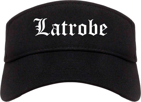 Latrobe Pennsylvania PA Old English Mens Visor Cap Hat Black