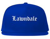 Lawndale California CA Old English Mens Snapback Hat Royal Blue