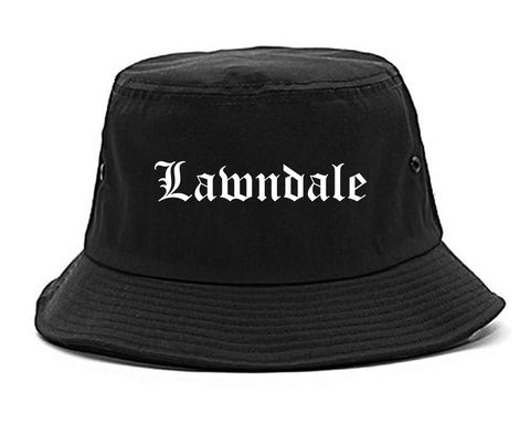 Lawndale California CA Old English Mens Bucket Hat Black