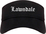 Lawndale California CA Old English Mens Visor Cap Hat Black